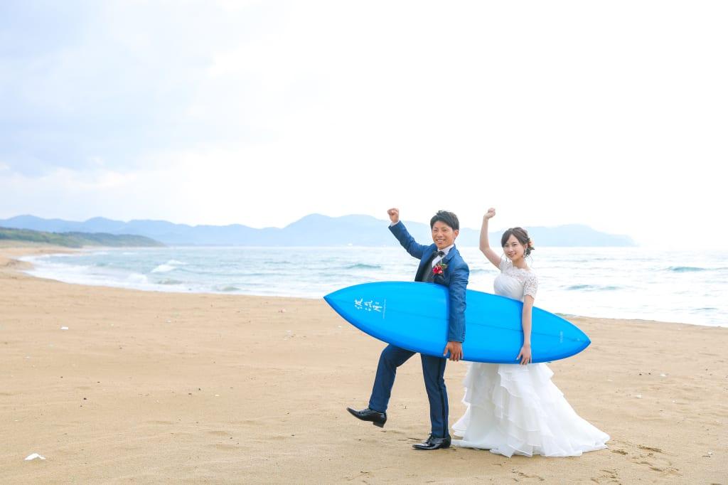 大好きな海とサーフボードと一緒に!