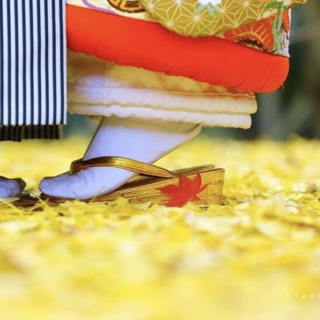 紅葉が有名な軽井沢で結婚写真を♬
