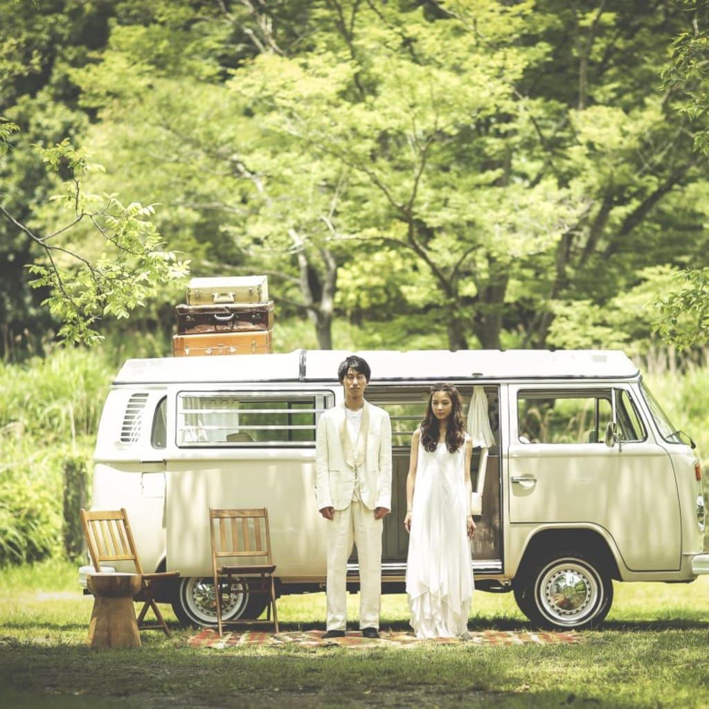 森でフォトウェディング photo by Keisuke Shimozono