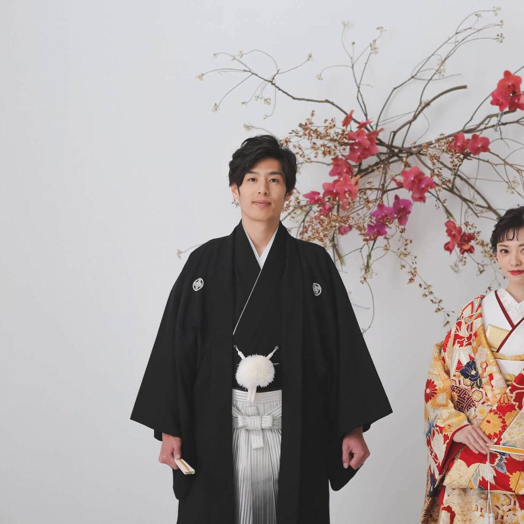 11月 生花が彩る結婚写真