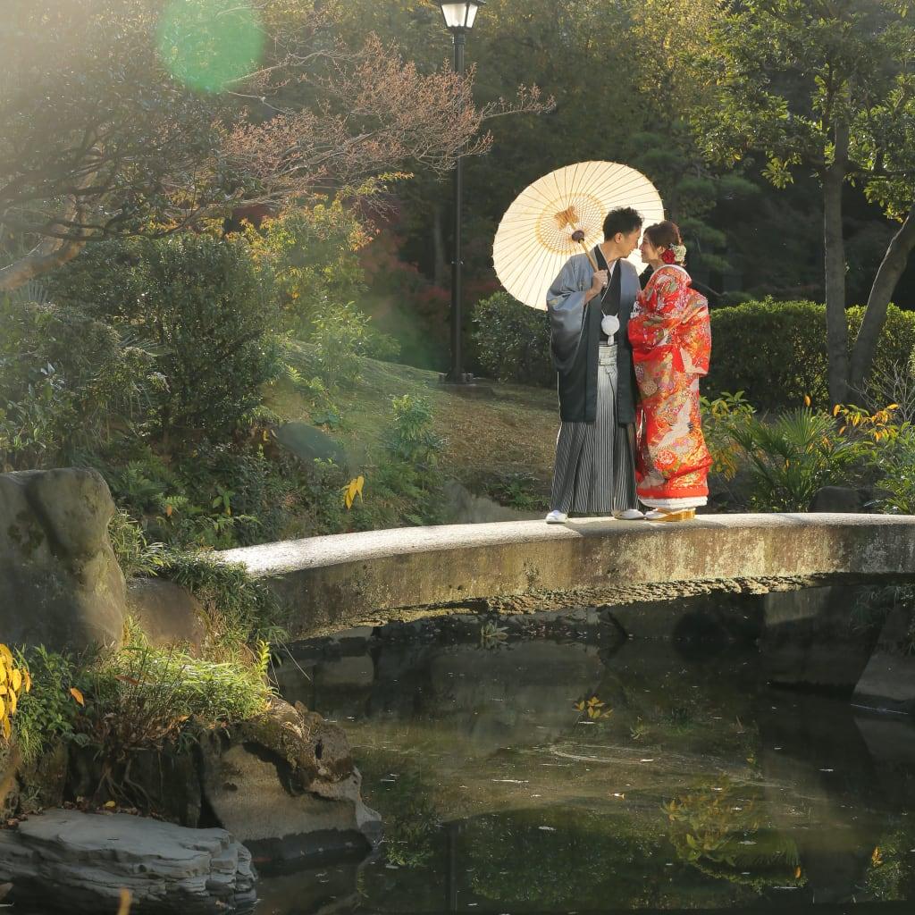 旧安田庭園和装ロケーション