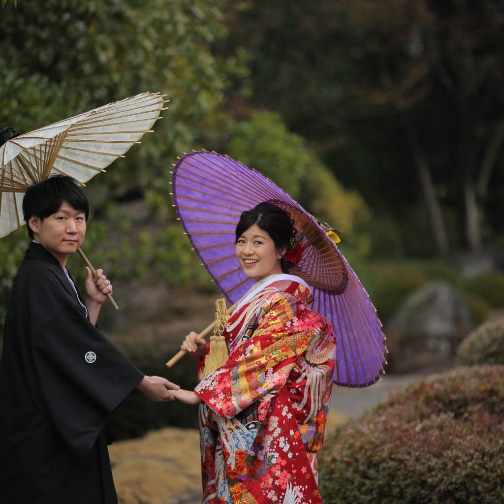 雨の日の大濠日本庭園