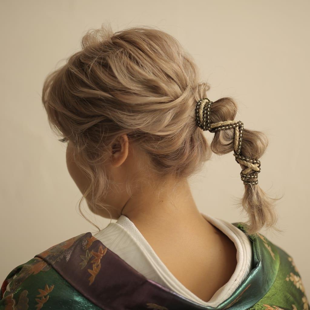 おしゃれな紐を使ったヘアアレンジ♪