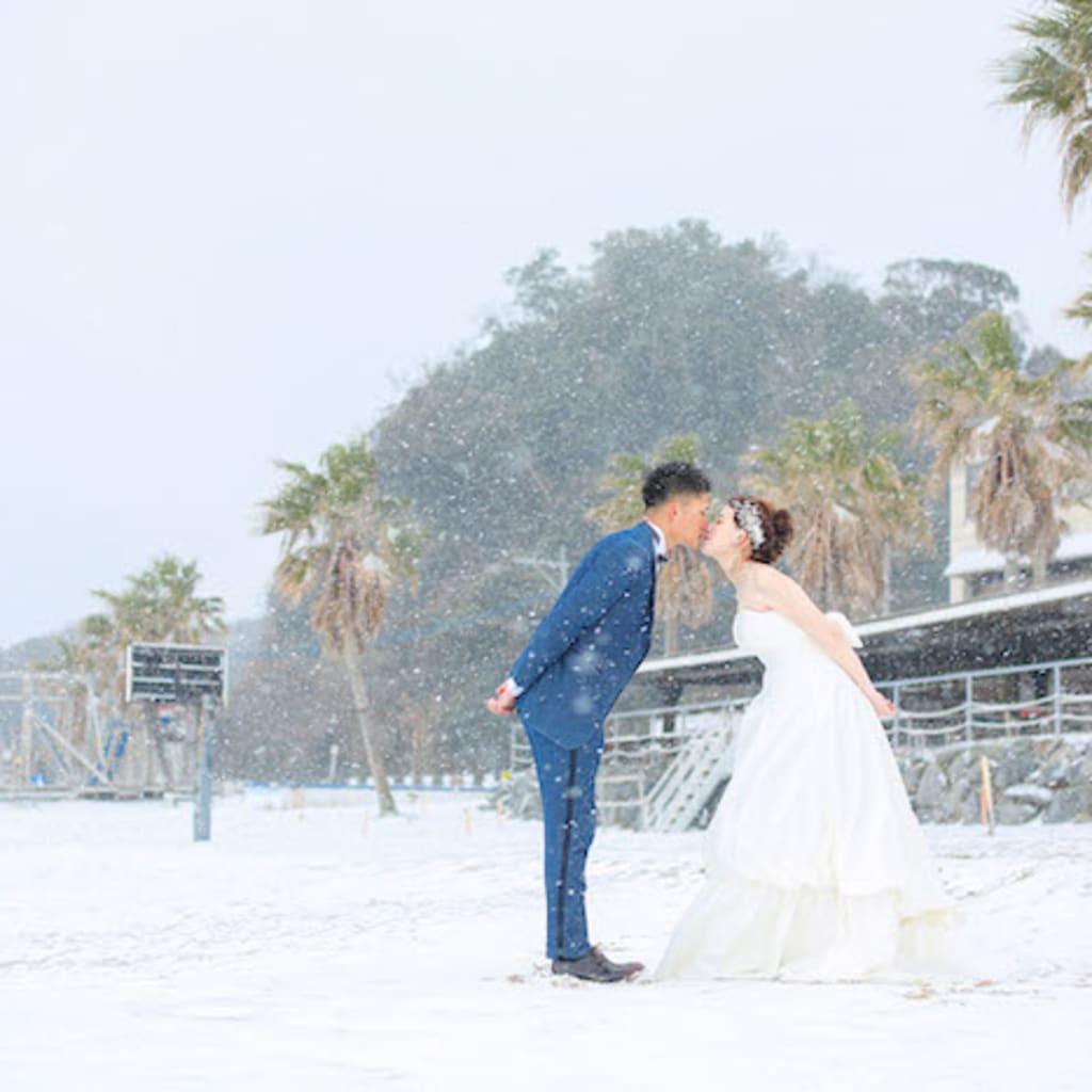 雪と糸島。