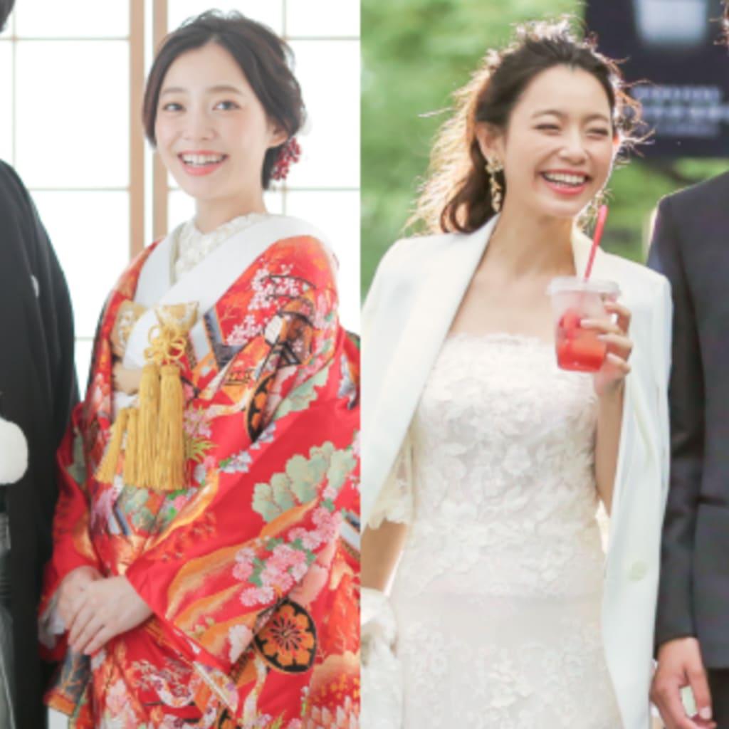 新婚カップル応援! スタジオ・ロケの組み合わせが選べるお得な和装+洋装プラン