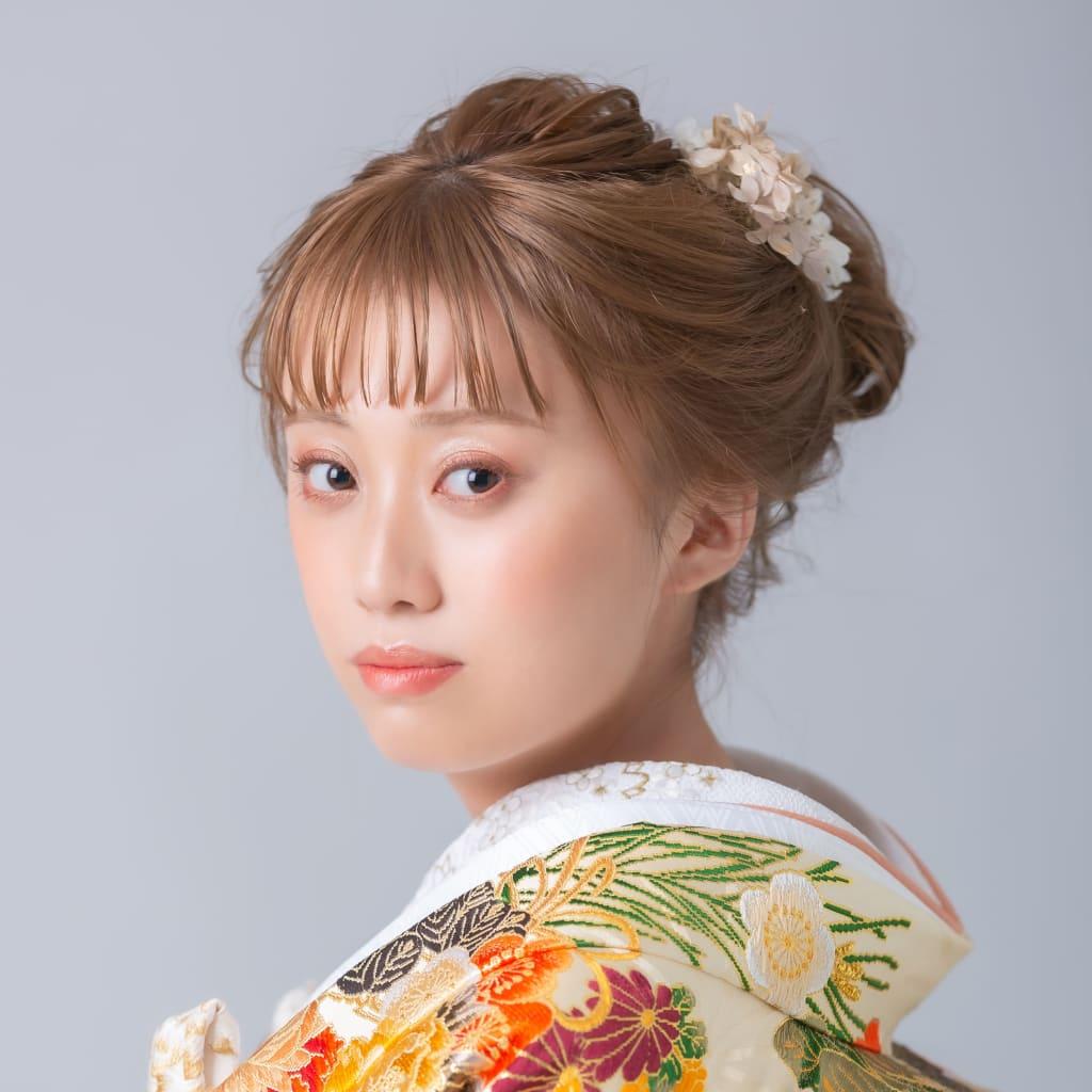 日本髪風ヘア
