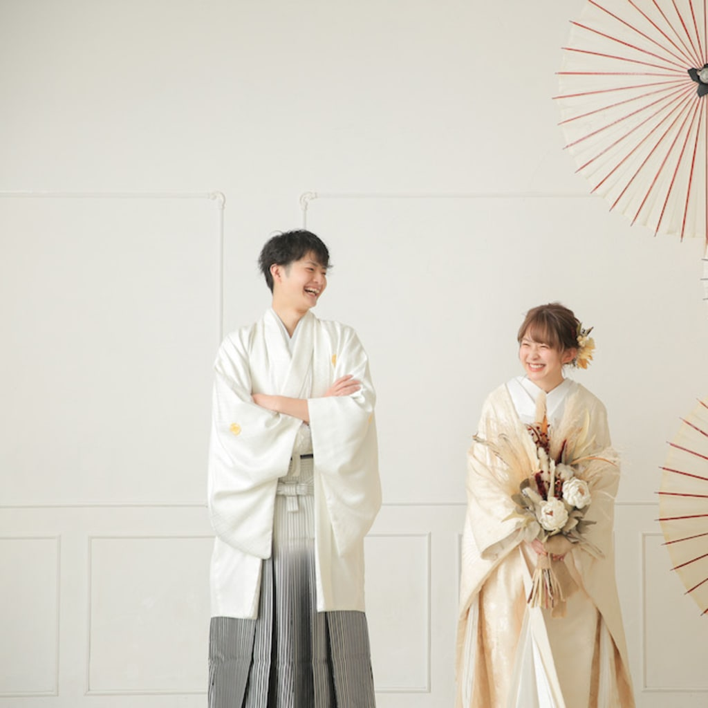 白無垢×白紋服