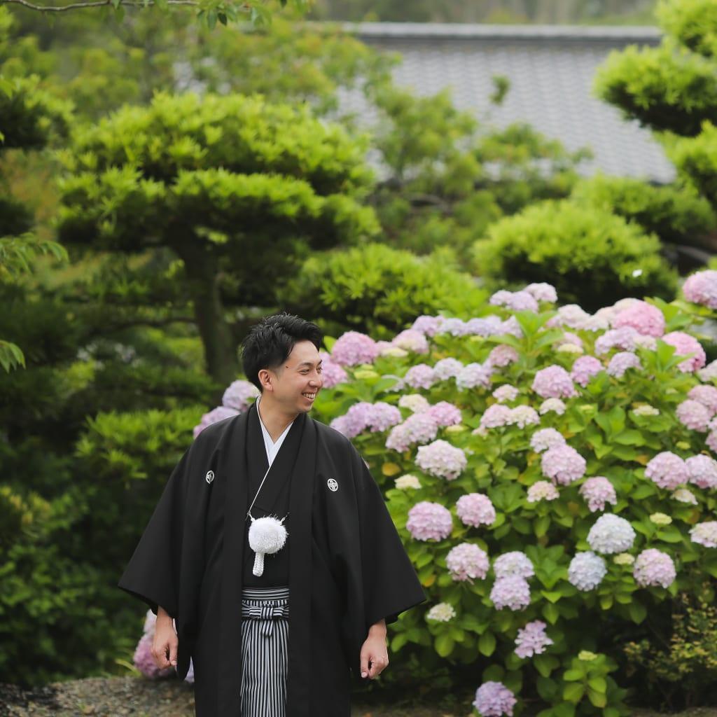 糸島にある櫻井神社で和装ロケーション撮影