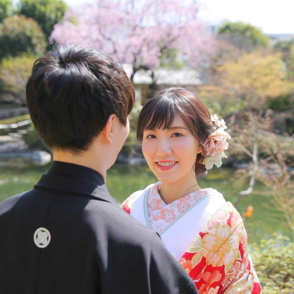 目白庭園でしだれ桜・屋内で洋装撮影しませんか♪