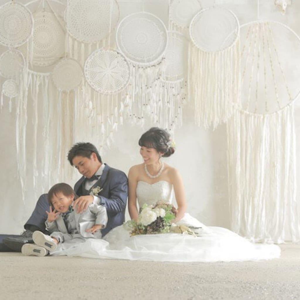 子供と残す結婚写真