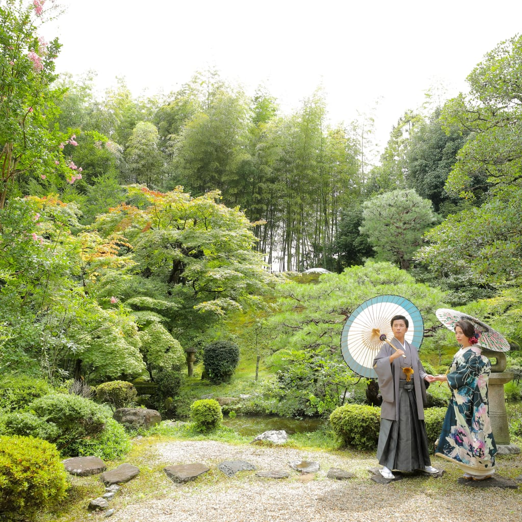 京都 前撮り フォトウェディング 色打掛 白無垢 和装