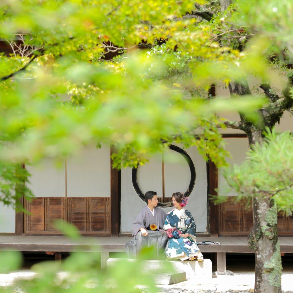 京都 フォトウェディング 前撮り 和装 色打掛 白無垢