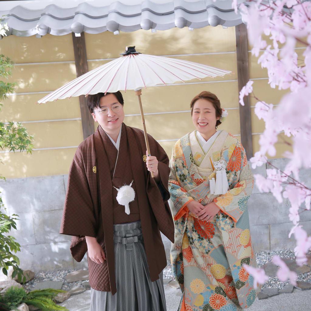 桜で撮影!