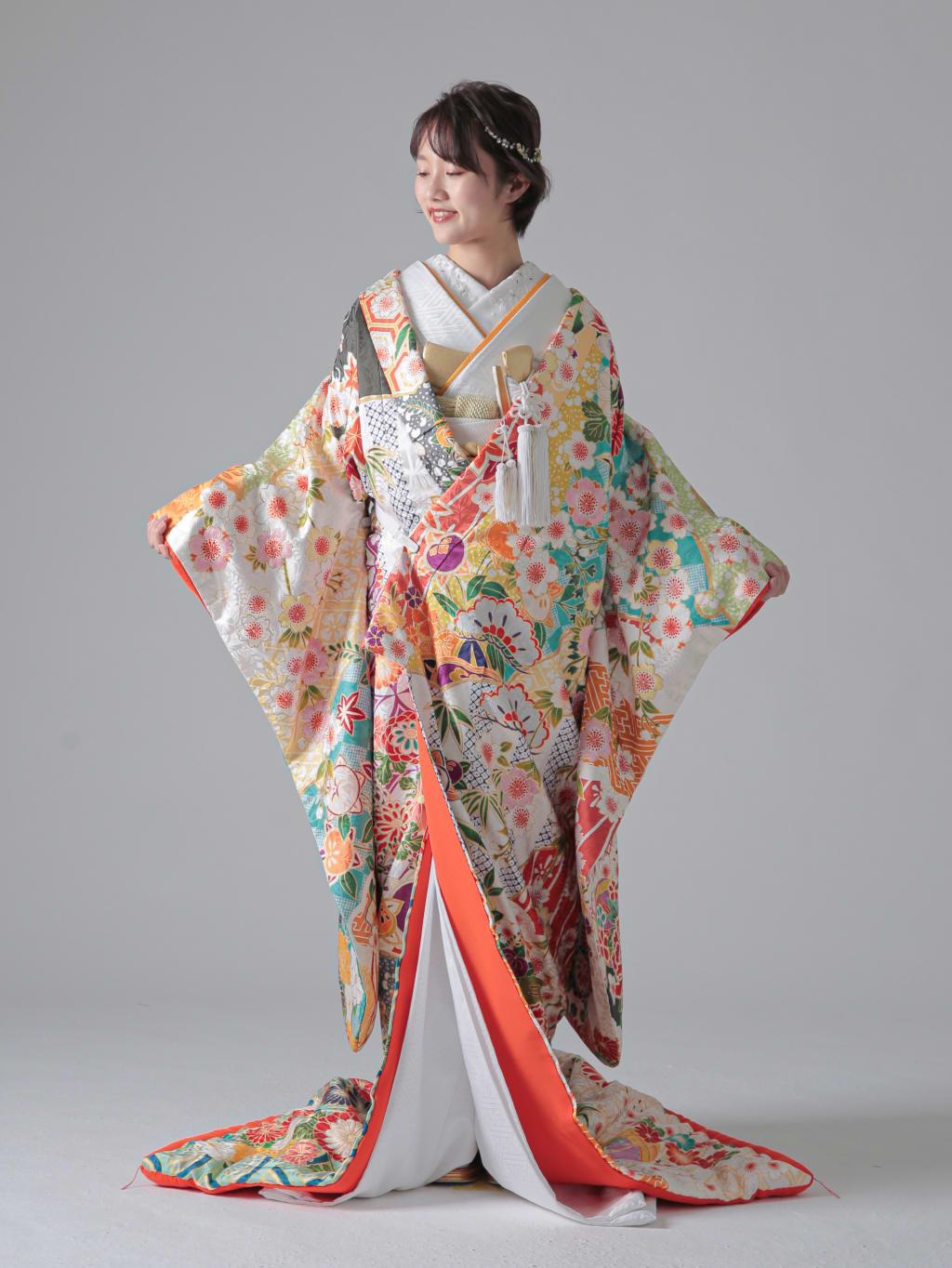 裂取百花の集い梅立花亀甲文_福岡店