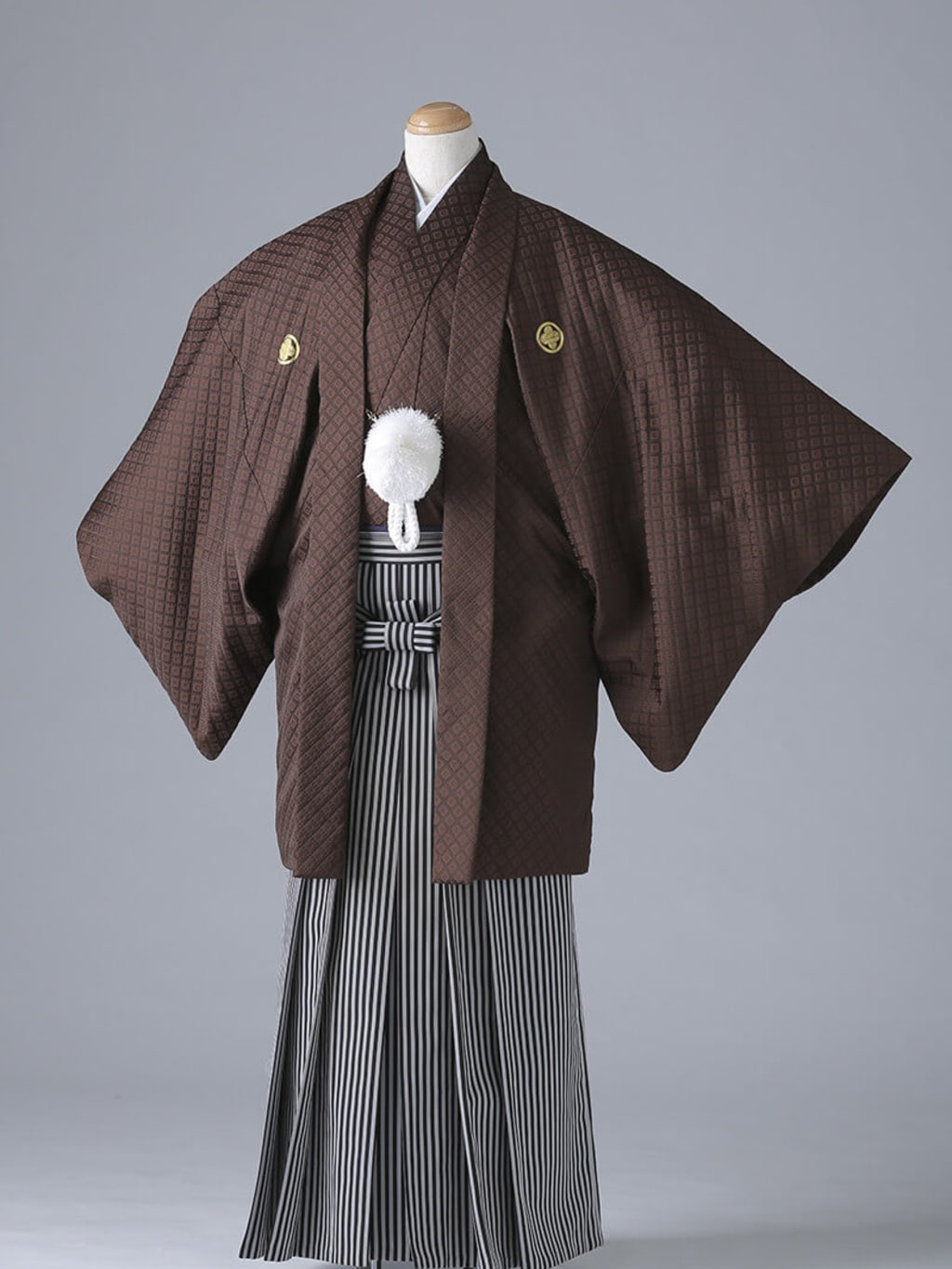 茶紋付×仙台平袴