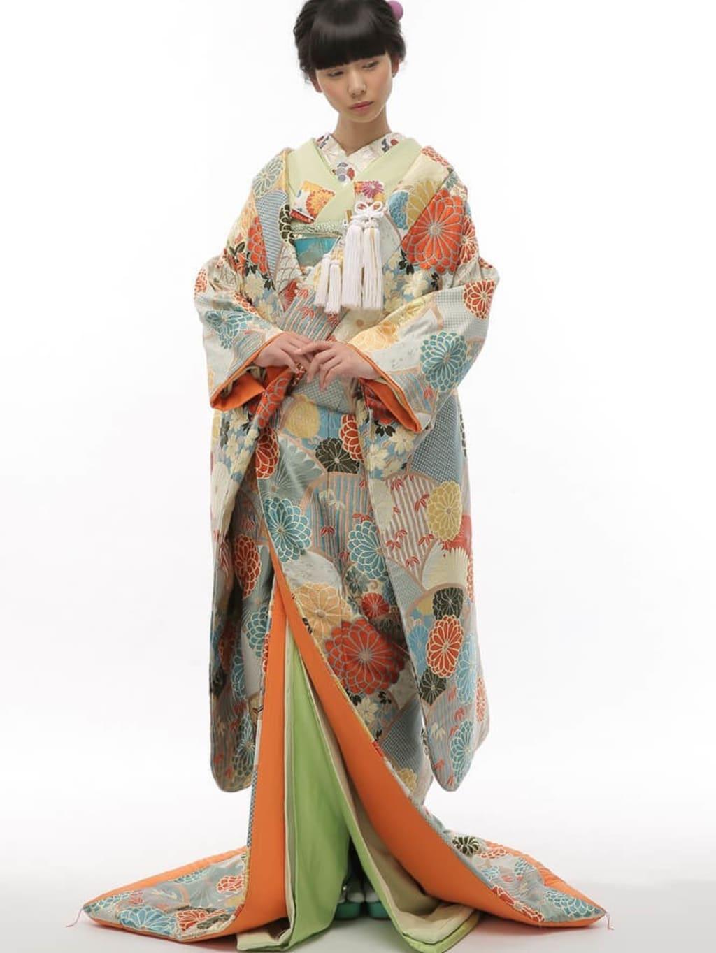 菊花青海紋 水色_堀江店