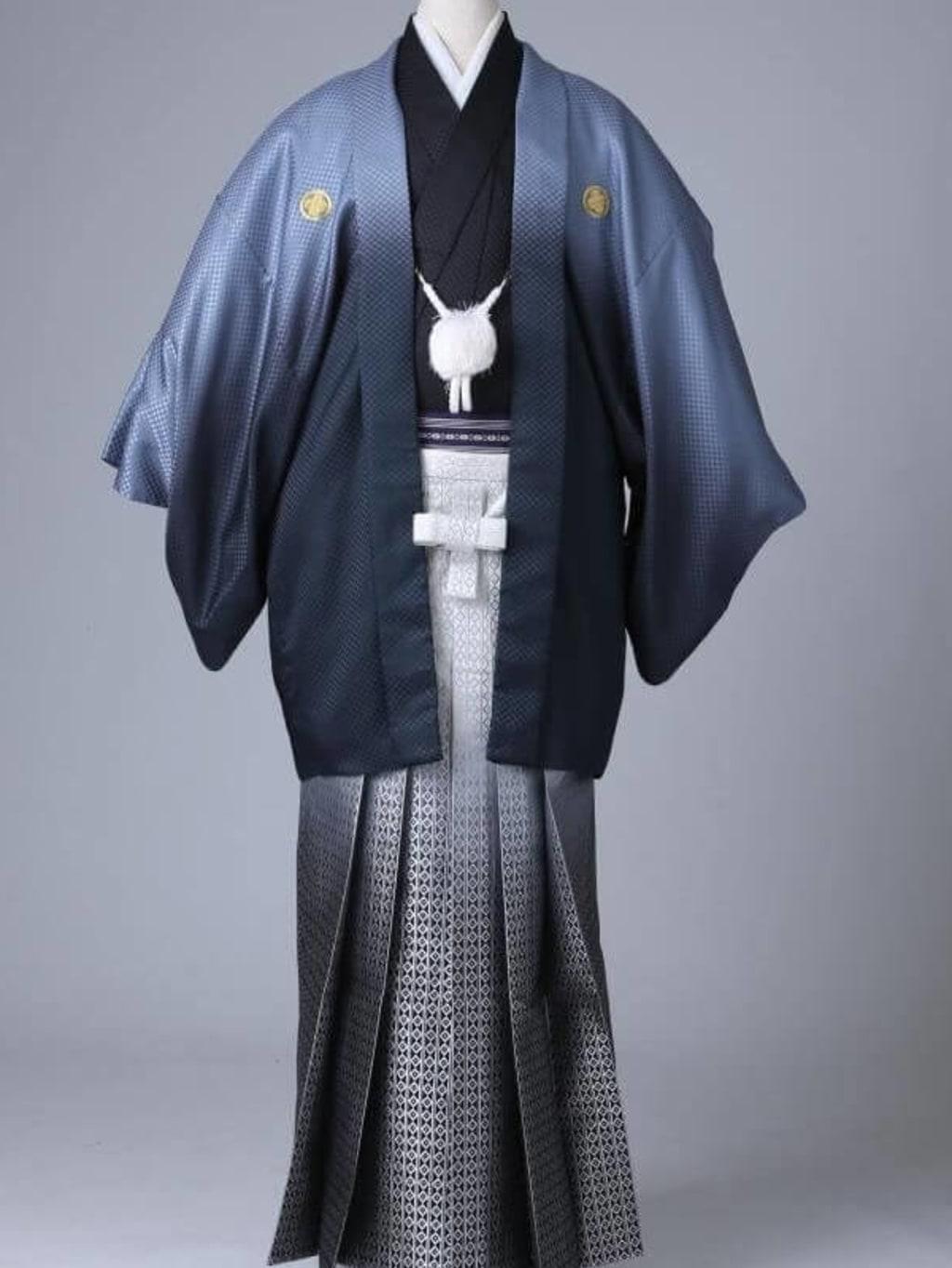 シルバーグラデーション紋服 グラデーション袴_横浜店