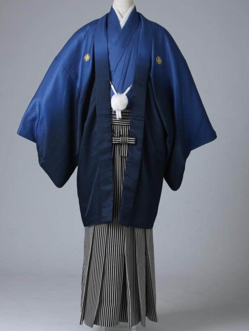 ネイビーグラデーション紋服 仙台平袴_横浜店