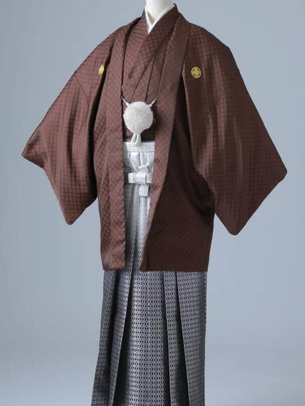 ブラウン紋服 グラデーション袴_横浜店