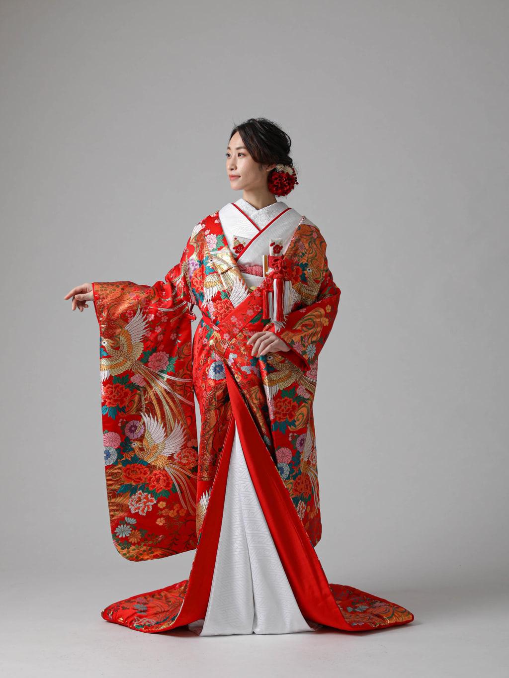 赤 鳳凰に牡丹・菊_渋谷店
