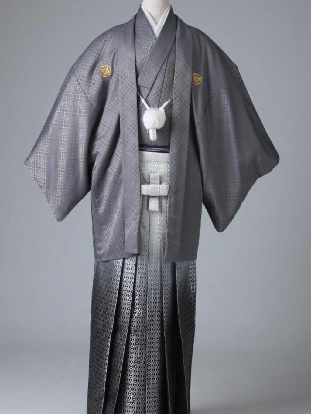グレー紋服 グラデーション袴_横浜店