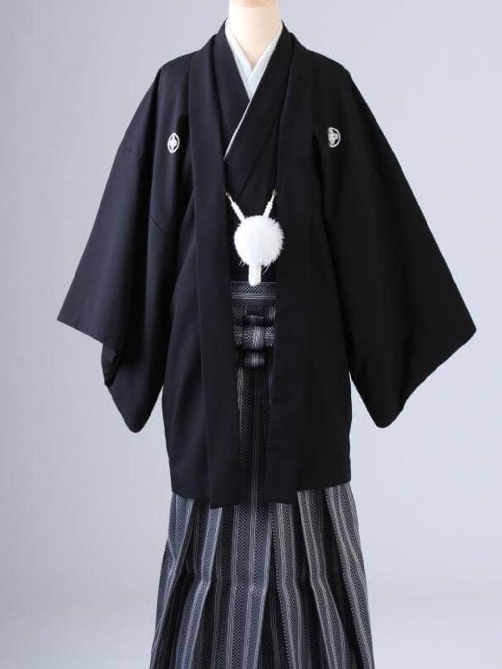 黒紋服 格子柄袴_横浜店