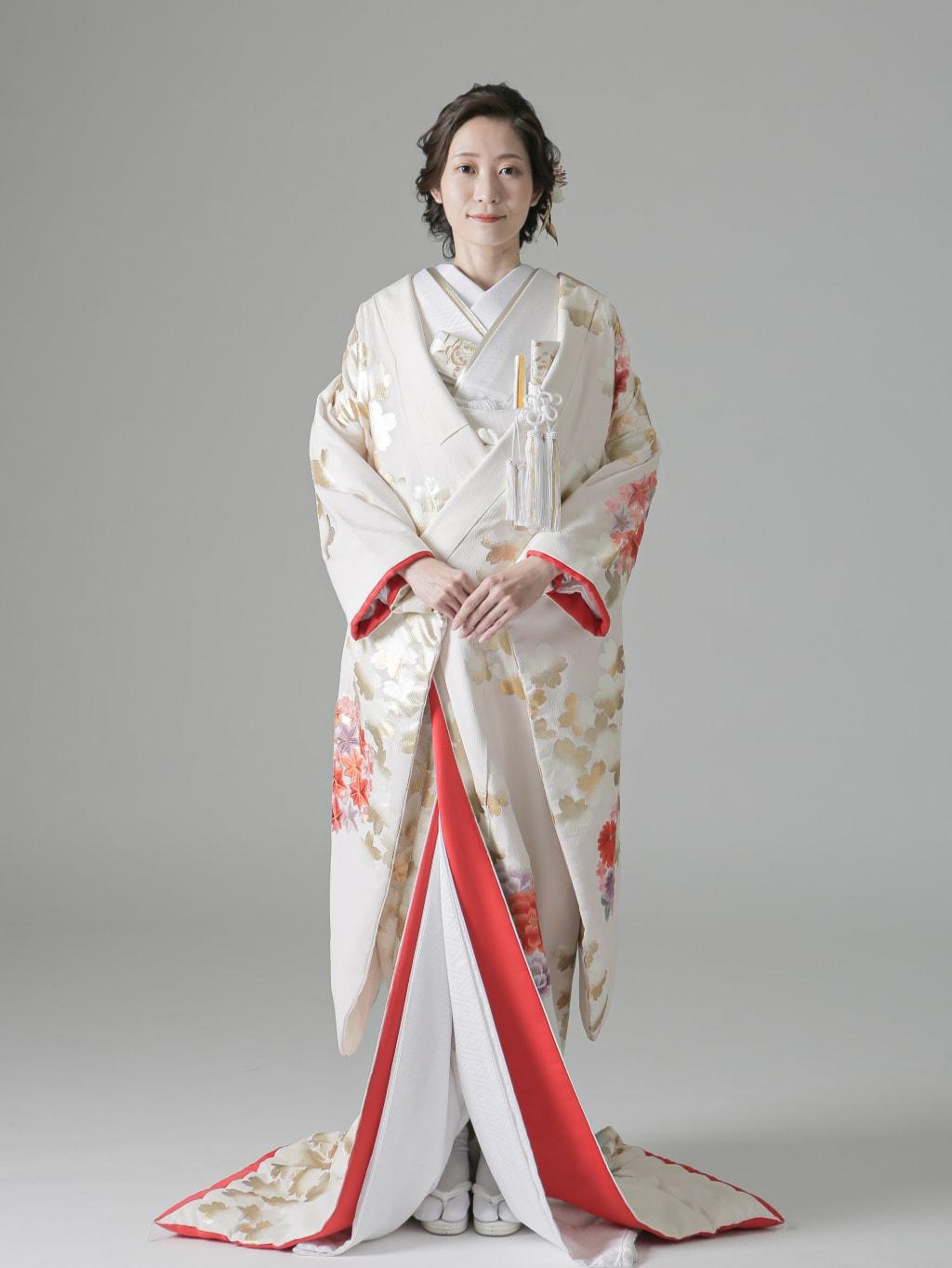 白 金桜に丸菊楓_堀江店