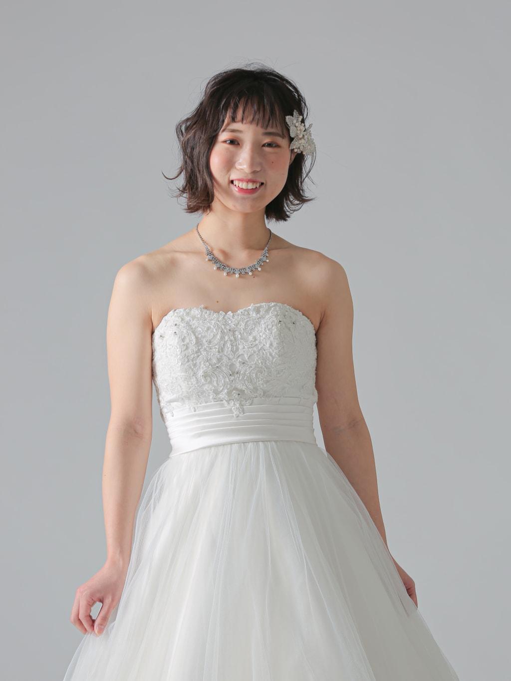 トップス刺繍タックベルト切替_福岡店