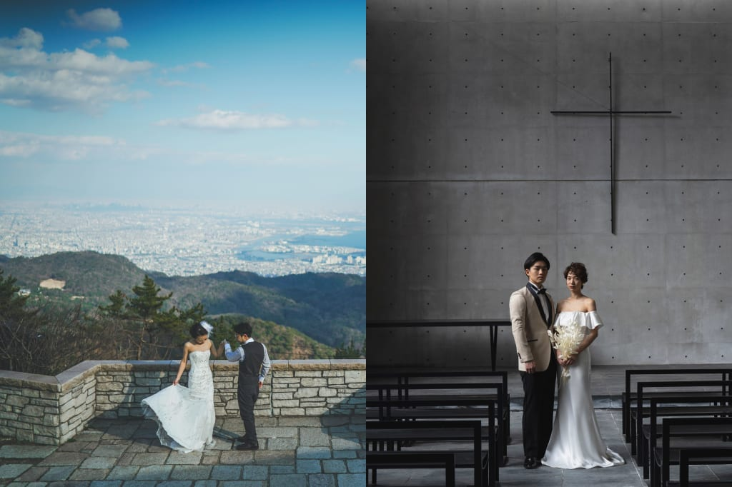 風の教会+六甲山洋装周遊プラン