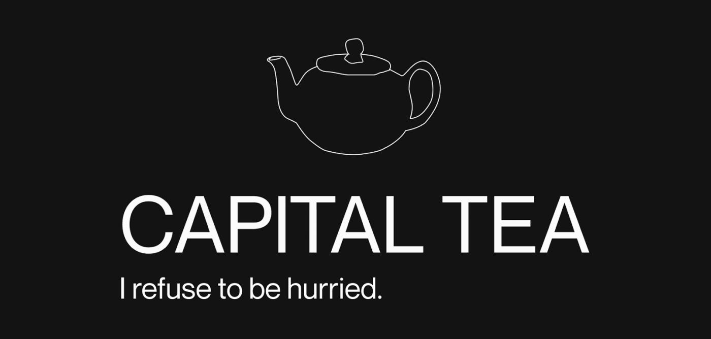 Capital Tea, branding, web design and product design concept by Postdigitalist