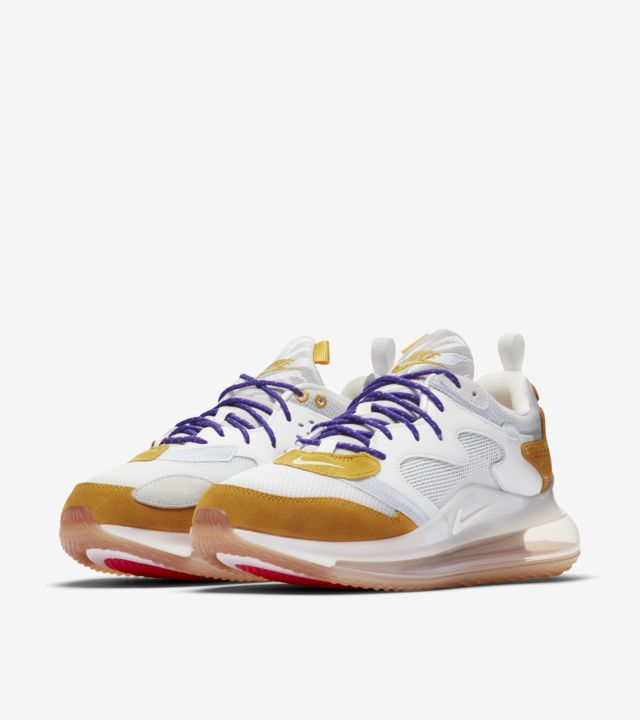 3度目の登場!「NIKE AIR MAX 720 OBJ CANYON GOLD/HYPER GRAPE」アメフトコラボ