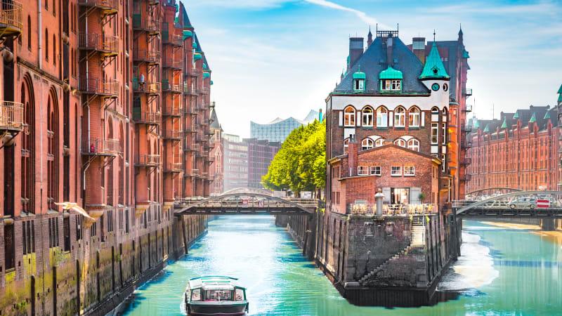 Storstaden Hamburg med rundtur