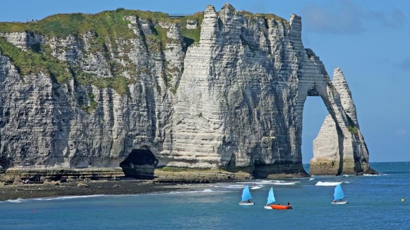 Le Havre och Étretat på väg mot Tyskland