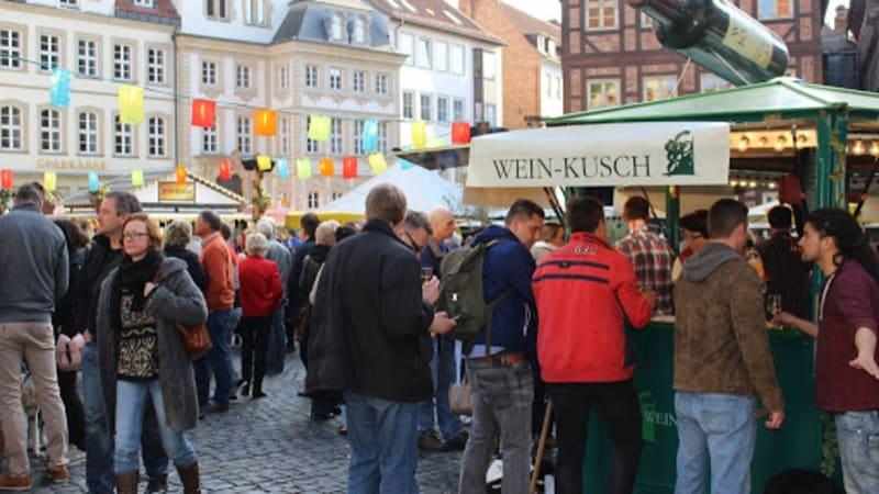 På vinfesten i Hildesheim