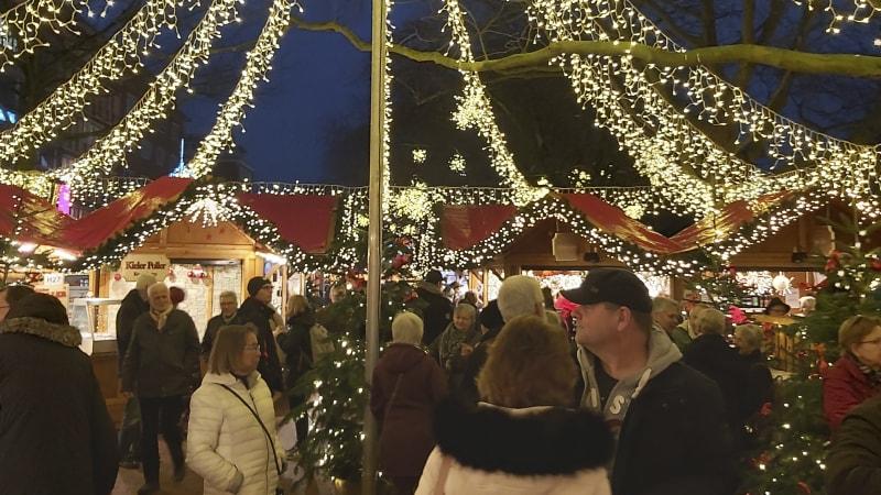 Lübeck - Julmarknadsdag