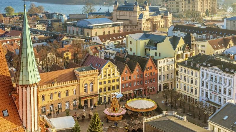 Julmarknad i Schwerin
