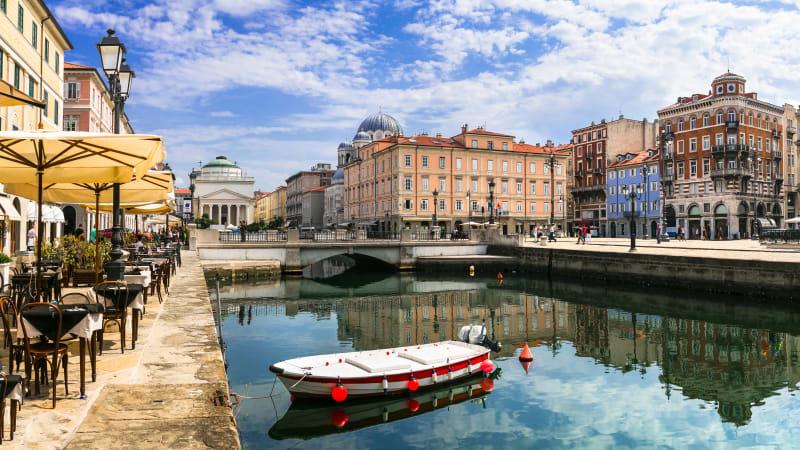 Trieste & slottet Miramare (Italien)