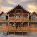 Cabin exterior at Eden Crest Vacation Rentals, Inc. - Rising Eagle Lodge.