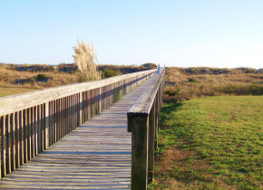 Boardwalk at The Sunset Inn.