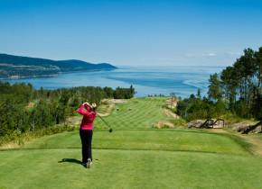 Golfing at Fairmont Le Manoir Richelieu.