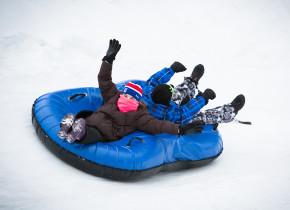 Snowtubing at Woodloch Resort