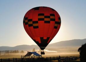 Balloon ride at The Resort at Paws Up.