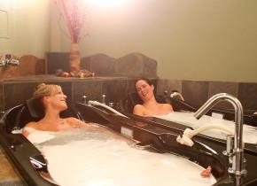 Women enjoying day at the spa