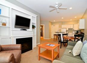 Suite interior at Rivertide Suites Hotel.