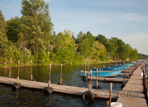 Dock at Lake Dalrymple Resort.