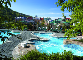 Outdoor pool at Fairmont Tremblant Resort.