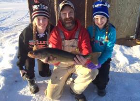 Family fishing at Ballard's Resort.