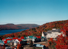Fall colors at Fairmont Tremblant Resort.