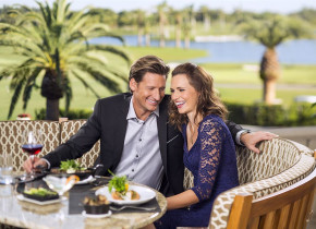Couple dining at Trump National Doral Miami.