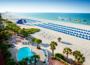 Beautiful views of the beach during your stay at TradeWinds Island Grand